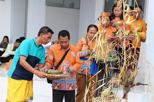 Ritual Keagamaan Hindu dalam acara Peresmian Gedung Baru FDA