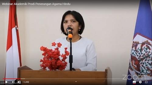Laporan dari Ketua Panitia Kegiatan Webinar Prodi Penerangan Agama Hindu