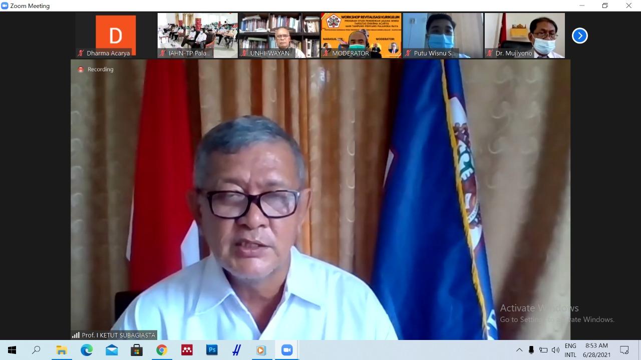 Sambutan oleh Rektor IAHN-TP Palangka Raya